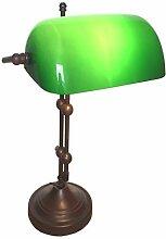 Bankerlampe Duo Antik 43 grün Tiffany Antik