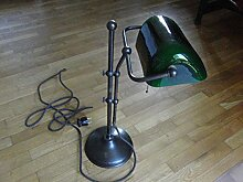 Bankerlampe Schreibtischlampe Original Berliner Messing Antik W1-99gr A