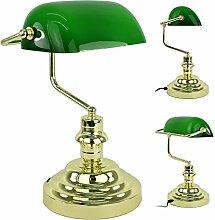 Bankerlampe Tischlampe Bankers Lamp Schreibtischlampe Tischlampe Banker Lampe Büro Vintage Plastik H: 36 cm