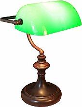 Bankerlampe Tischleuchte Rund grün