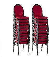 Bankettstühle 20er Set Konferenzstühle Saalstühle stapelbar ro
