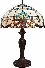 Banklampe Tiffany Leuchte Tischlampe Rustica