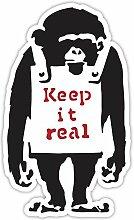 Banksy Monkey Keep Real Design Wandkunst Graffiti