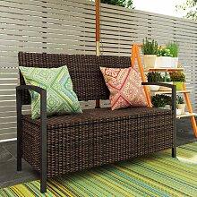 Banktruhe aus Polyrattan Garten Living Farbe: