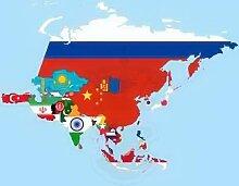 Bannerflagge Asien - 80 x 200cm - Flagge und Banner