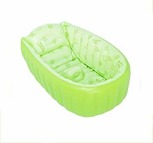 BAO DUO HUI Aufblasbare Neugeborene Kleinkind Babybadewanne (0-4 Jahre) Badewannensitz, Tragbare Aufblasbare Badewanne Planschbecken Schwimmbecken für Baby und Kleinkinder(Green)