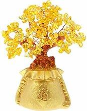 Baoblaze 1 Stück Harz Geldbaum Gelb Lebensbaum