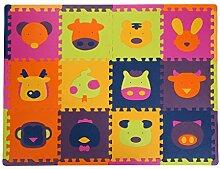 Baoblaze 12tlg. PE Bodenmatte Puzzleteppich Spielmatte Puzzlematte Soft Baby Kinder - Sheng-Xiao Ro