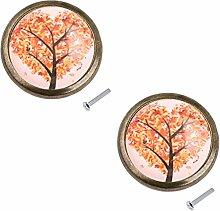 Baoblaze 2 Stück Rund Möbelgriff Möbelknöpfe mit Schraube für Kommoden Schrank - #1