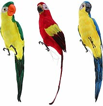 Baoblaze 3 Stück Papagei Ara Zaunfigur