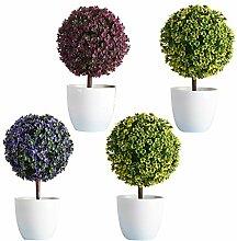 Baoblaze 4 Stück Mini künstlicher Mini Bonsai
