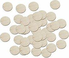 Baoblaze 50x Runde Holzscheibe Holz Rund Kreis