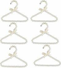 Baoblaze 6 Stück Perlen Kleiderbügel Anzugbügel