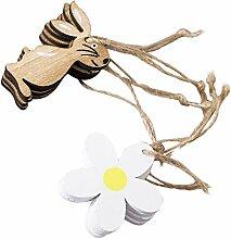 Baoblaze 8X Ostern Anhänger Deko Figuren Ornament