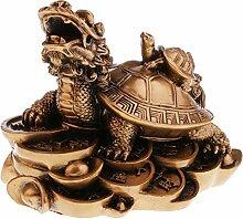 Baoblaze Drachenschildkröte Statue Figur Skulptur