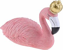 Baoblaze Flamingo mit Krone Tierfigur Party