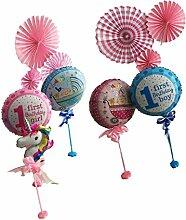 Baoblaze Luftballon Riesen Einhorn Folienballon