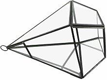 Baoblaze Mini Glasterrarium Geometrisches Glas