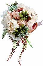 Baoblaze Pfingstrosen Brautstrauß Romantische