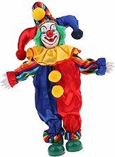 Baoblaze Porzellan Clown Kostüm Puppe Kinder