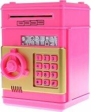Baoblaze Schöne Automatische Elektronische Password Tresor Spardose Sparschwein Münze Papiergeld Sparen Box für Kinder - Rosa, C