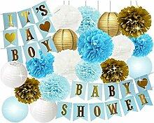 Baoblaze Seidenpapier Pompoms Papierlaterne Girlande Baby Party Dekoration Se