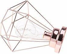 Baoblaze Vintage Diamant Tischleuchte Tischlampe