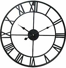 Baoblaze Vintage Große Uhr Wanduhr Römische