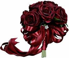 Baoblaze Vintage Seide Rose Künstliche
