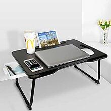 Baodan Laptop-Betttisch mit Stauraum, faltbarer