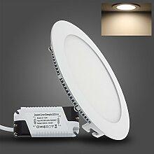 BAODE 12W Warmweiß LED Panel Leuchte Deckenlampe