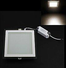 BAODE 6/12/18W LED Panel Leuchte Glas Dimmbar Rund