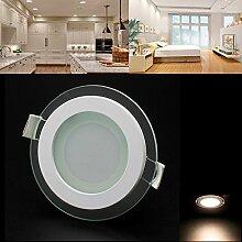 BAODE Dimmbar LED Panel, 6W Warmweiß(3000K)