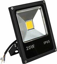 BAODE LED Fluter,LED Strahler 20W Naturweiß Licht Scheinwerfer Spotbeleuchtung Außen IP65 [Energieklasse A++]