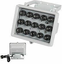 BAODE LED IR Infrarot AC-230V 15W 60Grad Scheinwerfer Nachtsicht f.Überwachungskamera IP65