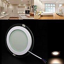 BAODE LED Panel, Dimmbar 12W Warmweiß(3000K)