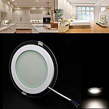 BAODE LED Panel Leuchte Glas Dimmbar 12W