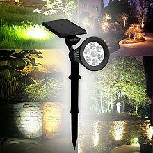 BAODE LED Solar Strahler Solarleuchte Beleuchtung Spotlight Warmweiß 1st/2st/4st 3th Version Superhelle (2st.Warmweiß m.Bewegungsmelder)