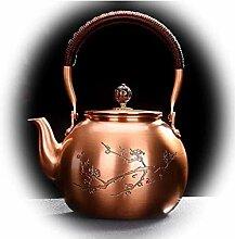 BAODI Gusseiserne Teekanne Kupfer Topfkessel,
