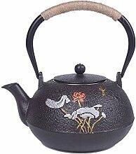 BAODI Gusseiserne Teekanne Teekanne Wasserkocher