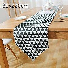 BAOLIJIN Individuelle Tischläufer Dreieck Muster