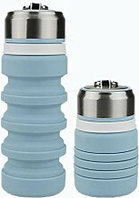 Baomasir Faltbare Wasserflasche Aus Silikon,