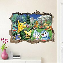 BAOWANG Wandsticker 3d Cartoon Pikachu Pokemon