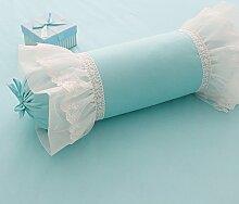 Baozengry Candy Kissen Kopfkissen Nackenkissen, 50 X 17 Cm, Blau