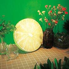 Baozengry Die Frucht Kissen 3D Schöne Wassermelone Lime Orange Kiwi Kissen Waschbar, 35 Cm Durchmesser 4 Cm Hoch, Kalk