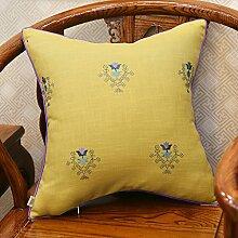 Baozengry Ein Großes Sofa Kissen Kissen Bestickt Taille Kissen Baumwolle Stickerei Kissenbezug Bett Auf Core, 45 X 45 Cm (Kissenbezug Kissen Core), Ein Bettwäsche Geometrische Taschenlampe