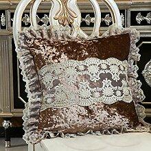 Baozengry European Style Sofa Kissen Polster Und Kissen Core Fabric Haushalt Auto Kissen Kissen Einzelbett, 55 X 55 Kissen Kern, Eleganten Kaffee