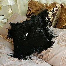 Baozengry Farbe Weiß Sofa Kissen Kissen Diamant Heimtextilien Kissen Von Mit Core, 45 X 45 Cm (Mit Core), Schwarz