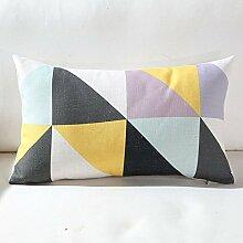 Baozengry Gelb Mosaik Dreieck Baumwolle Kissen