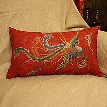 Baozengry Große Rote Hochzeit Bettwäsche Kissen